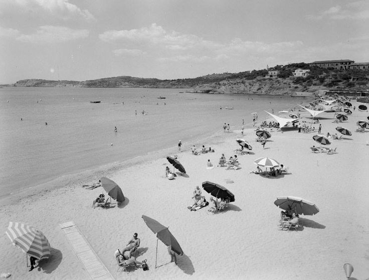 Astir Beach Vouliagmeni Athens 1957. Photo by Dimitris Harissiadis Benaki Museum Photographic Archives