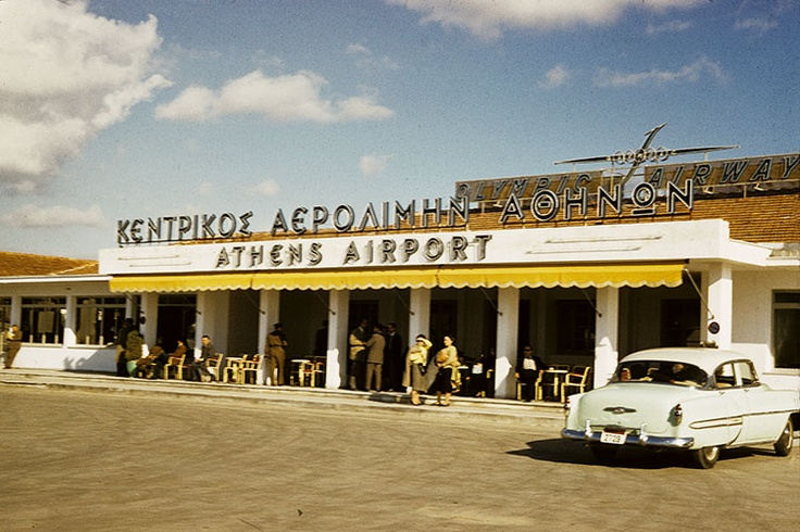The old Athens Airport in Elliniko 1970s