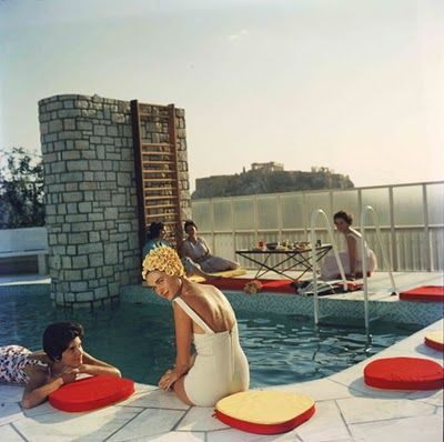 Love how he captured the social scene in the 60s. So many fabulous pool parties